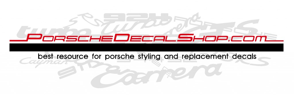 porsche decal shop